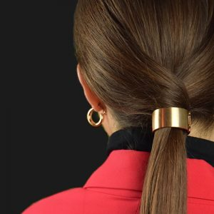 Elastiek met gouden ring