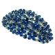 Patentspeld met zirkonia en blauwe kristallen