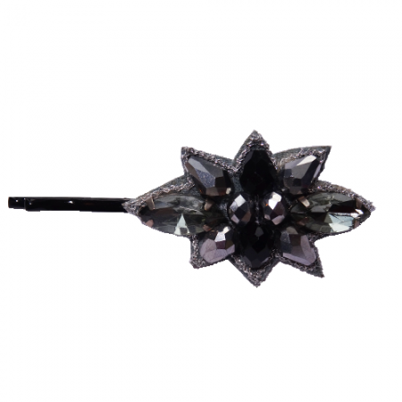 Schuifspeld met grijze en zwarte kristallen