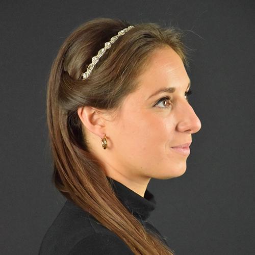 Haarband wit kristal
