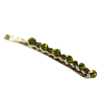 Schuifspeld met groen kristal