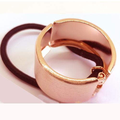 Elastiek met rosé gouden ring
