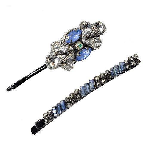 Schuifspelden zilver en lichtblauw