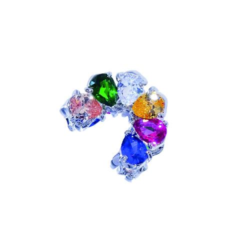 Haarklem met gekleurde kristallen